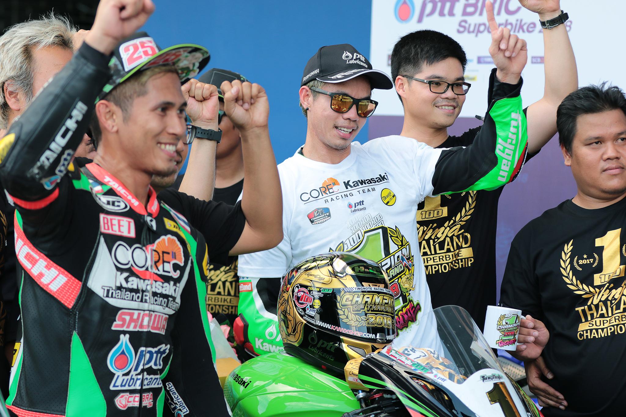 Thitipong and Kawasaki keep Yamaha at bay to seal a second BRIC Superbike title at 2018 season closer
