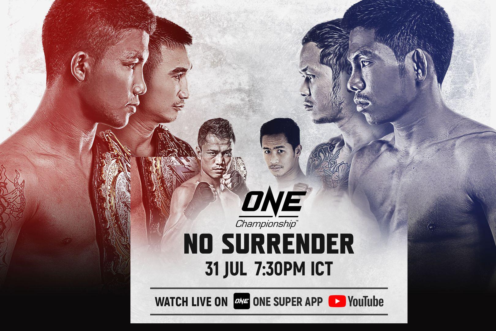 ศึกแบบไม่มีเสียงเชียร์ครั้งแรก ONE: No Surrender สัปดาห์พร้อมรบ!